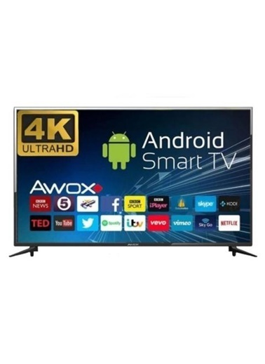 AWOX AWOX B205000S 50 inc 126cm 4K UHD Uydu Alıcılı WiFi Android Smart Led Televizyon  Renkli
